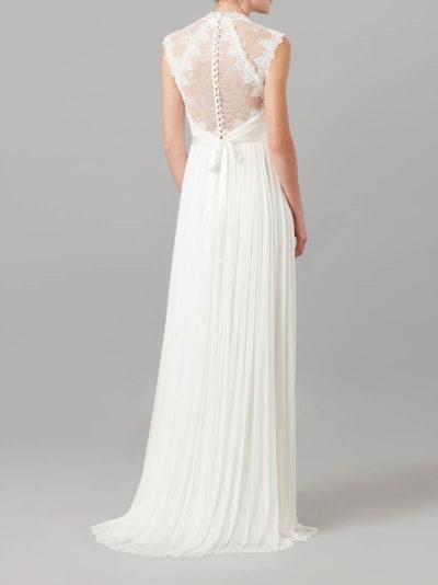elegant hochwertige Spitze A-Linie transparenter Rückendetails vintage stil