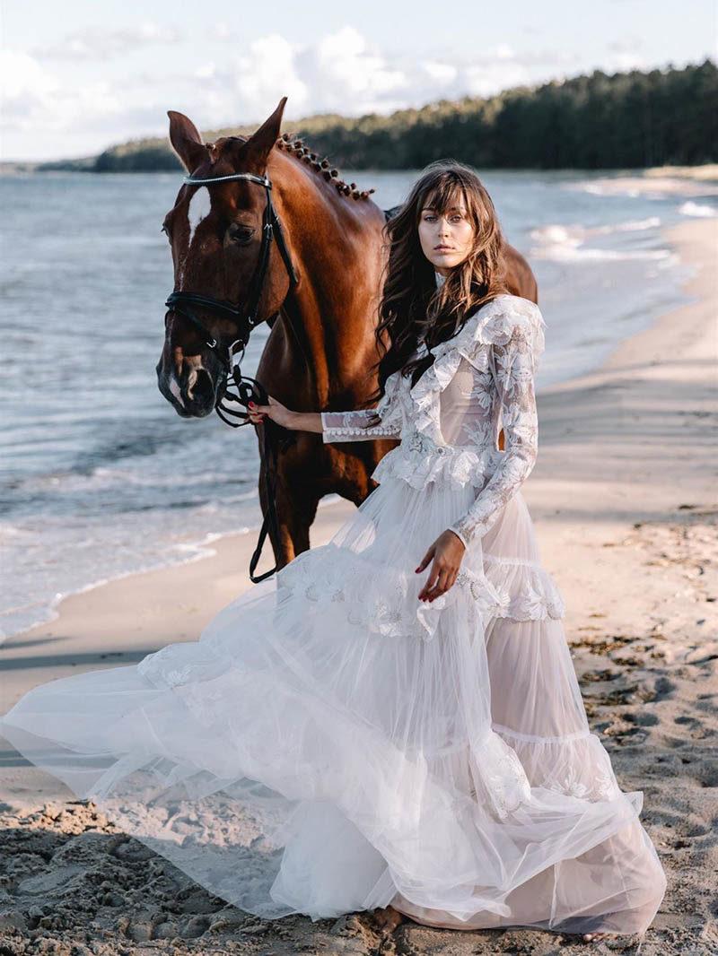 Moderne Vintage-Hochzeitskleider von Katya Katya London